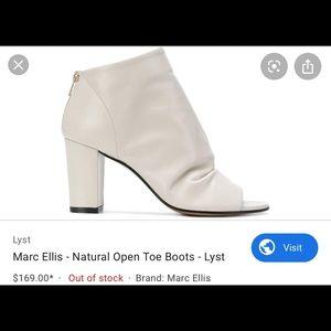 Marc Ellis 7.5 Open Toe White Heeled Booties 💕